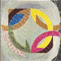 polar co-ordinates viii (from polar co-ordinates for ronnie peterson) by frank stella