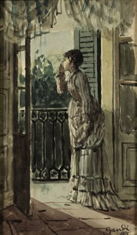 donna alla finestra by giacomo gandi