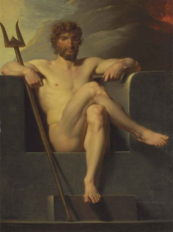 poseidon enthroned by friedrich heinrich füger