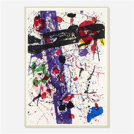 untitled from eight by eight to celebrate the temporary contemporary by sam francis