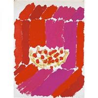 pecera de peces rojos sobre sillón rojo by rafael baixeras