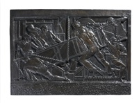 the steelworkers' a large metal figural panel by john francis kavanagh