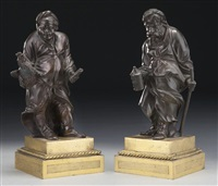 two robed figures (2 works) by anonymous (18)