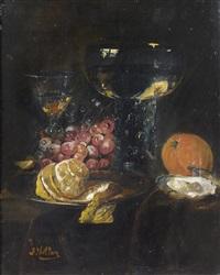 nature morte aux fruits et à l'huître by antoine vollon