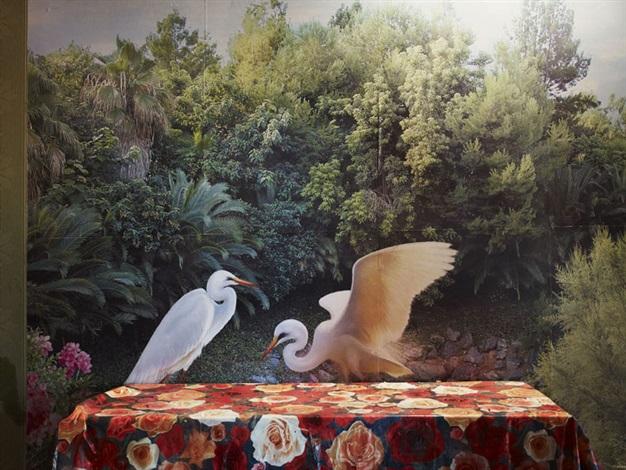 dancing egrets août by lucia ganieva