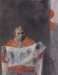 man in orange by bernard patrick arnest
