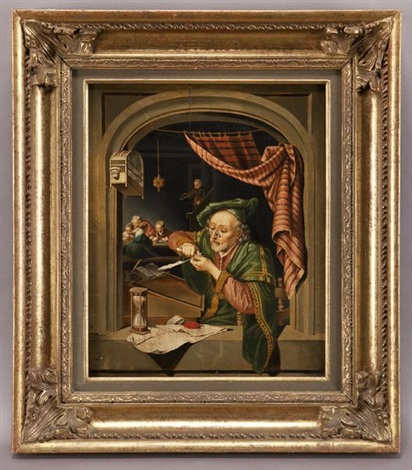 the scribe master by gerrit dou