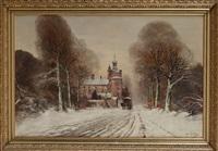 château sous la neige by jules gustave leroy