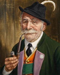 a good pipe (+ the trophy; pair) by fritz muller