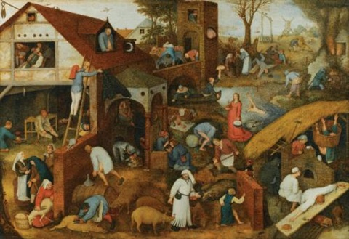 flemish proverbs by pieter brueghel the elder