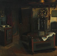 interior with cradle by valdemar kornerup