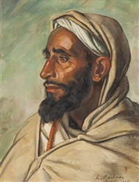 portrait de notable, maroc by louis john endres