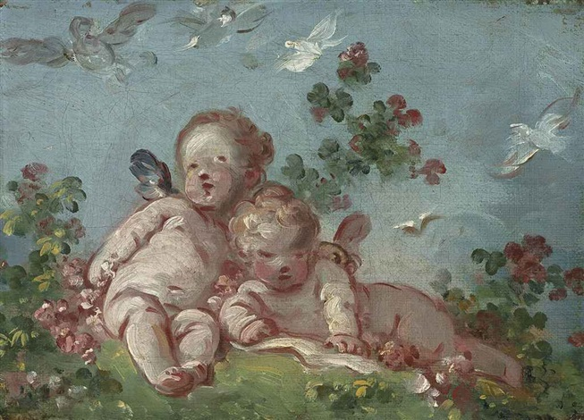two cupids, or spring by jean honoré fragonard