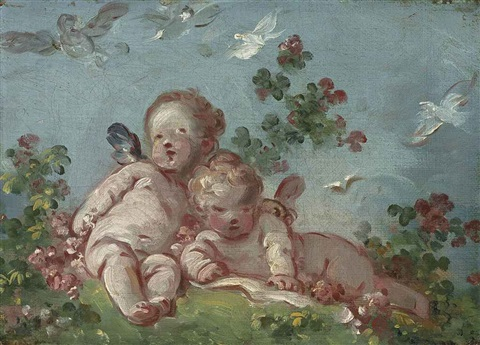 two cupids or spring by jean honoré fragonard