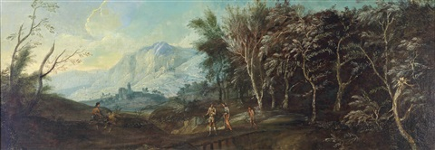 gebirgslandschaft küstenlandschaft pair by anonymous italo flemish 18