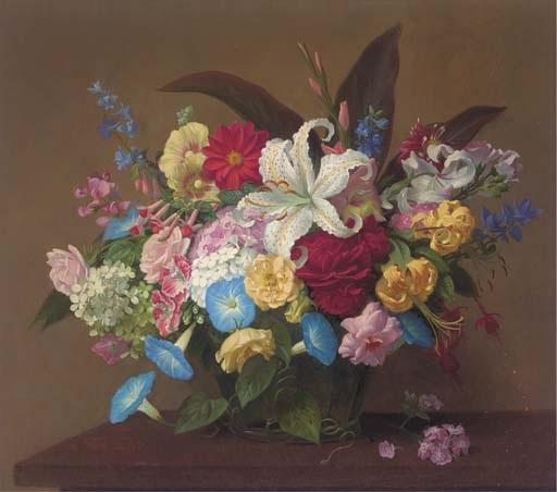 still life of flowers by john e. nicholls