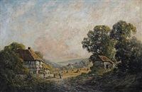 a farmstead on the isle of wight by harold goldthwaite