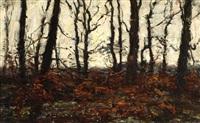 a forrest in autumn colours by jan adam zandleven
