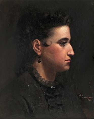 portrait of a woman by albert edelfelt