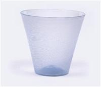 mezza filigrana beaker vase by carlo scarpa