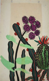 cactus (3 designs)(+ another, recto/verso; 4 designs) by atelier martine