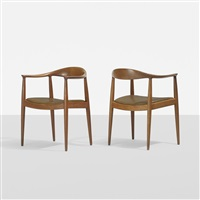 the chairs, pair by hans j. wegner