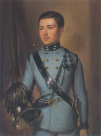 portrait ferdinand graf von bernau-ehrenfeld in der uniform der kaiserjäger by josef arnold the younger