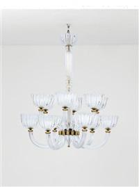 grande lampadario a dodici luci by seguso vetri d'arte (co.)