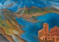 allegoria del golfo e del palazzo delle poste di la spezia by alfredo ambrosi
