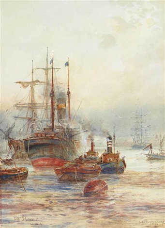 off greenwich london by frederick william scarborough