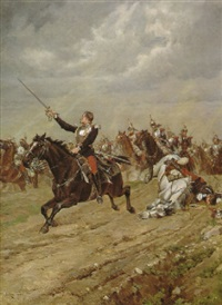 the charge of the curassieres by paul léon jazet