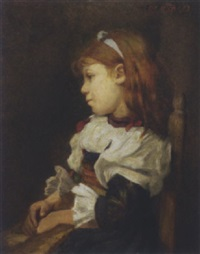 portrait of young girl by charles f. de kleyn
