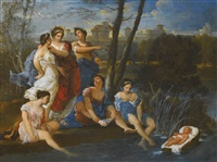 moses saved from the waters by italian school-roman (17)