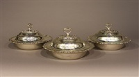covered serving dish (+ 2 others; 3 works) by topazio casquinna (co.)