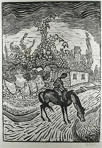 trinkendes pferd by otto pankok
