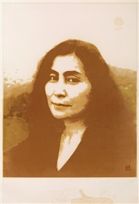 yoko ono as mona lisa by john lennon