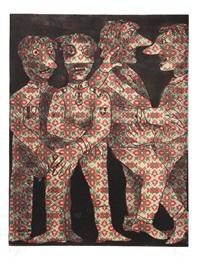 untitled (four dancing figures) by enrico baj