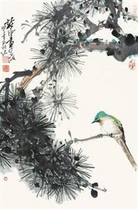 松树小鸟 by xu chunyuan