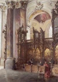 inneres der kirche in ottobeuren by wilhelm kreling