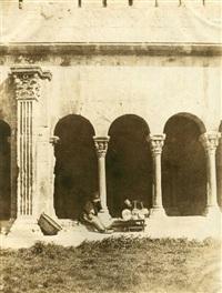 patio du cloître de saint-trophime, arles by charles nègre