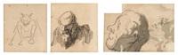 deux portraits et un diable by honoré daumier