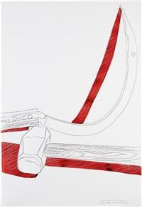 still-life (hammer & sickle) by andy warhol