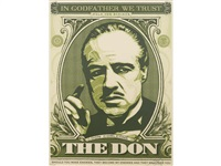 the godfather series (4 works) by shepard fairey