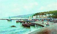 spiaggia con barche by radames scoppa