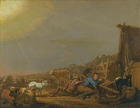 the annunciation to the shepherds by jan van ossenbeeck