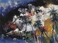 felsenküste auf tahiti by erhard theodor astler