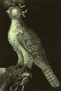 falcon prepared for hunter by henriette (müller) urlaub
