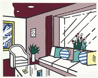 the living room (from interior series) by roy lichtenstein