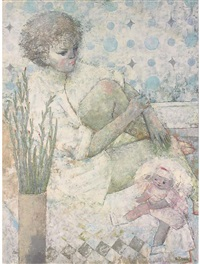 louise and her doll by andré röder