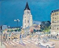 paris, l'église saint-germain-des-prés by pierre godet